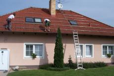 Střecha rodinného domu, Litvínovice u Českých Budějovic