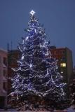 Světelná výzdoba vánoční stromeček
