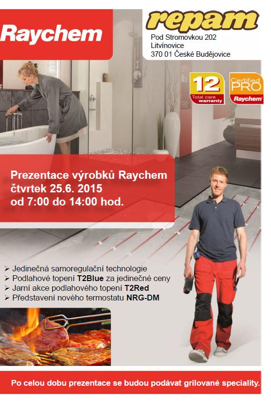Pozvánka na prezentaci produktů Raychem 25. 6. 2015